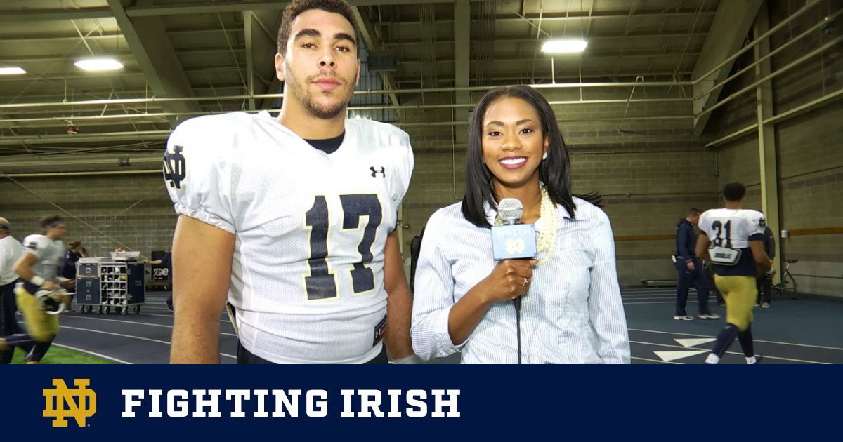 On the Field with James Onwualu – Miami Week – Notre Dame ...