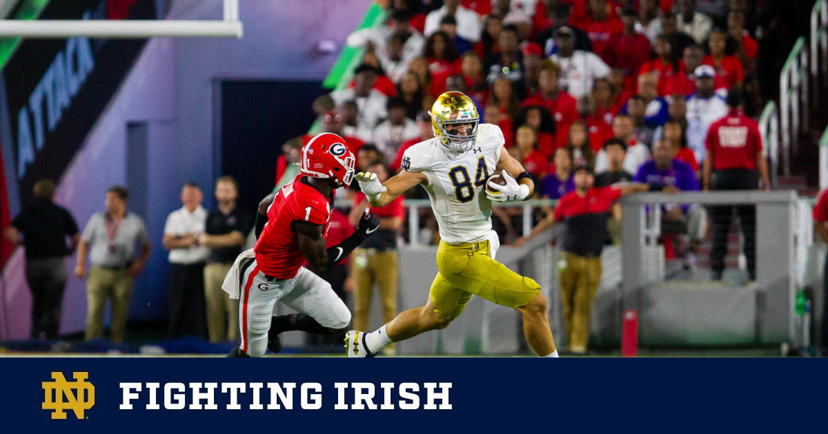 #7 Irish Fall Short at #3 Georgia, 23-17 – Notre Dame Official Athletic Site
