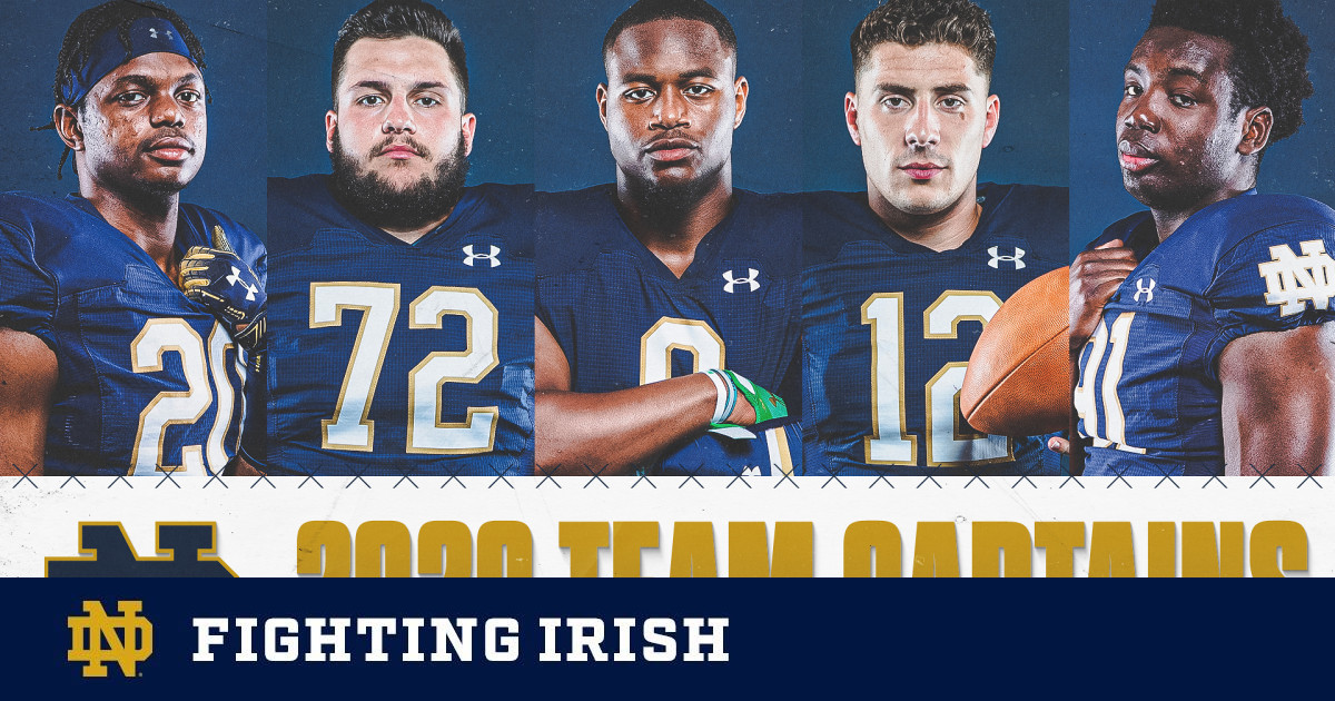 Five Captains Selected for 2020-21 Notre Dame Football Campaign