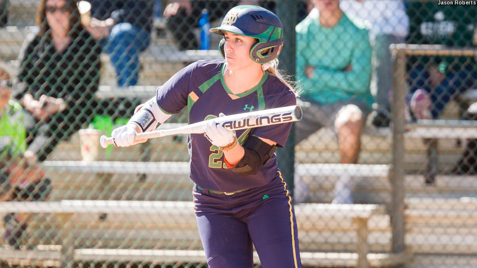 In spite of serious injuries suffered on the softball field, Wester has never missed a game in her Notre Dame career