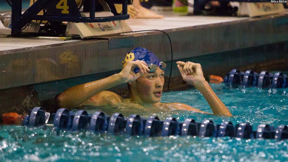 ACC Men's Swimmer of the Week Zach Yeadon