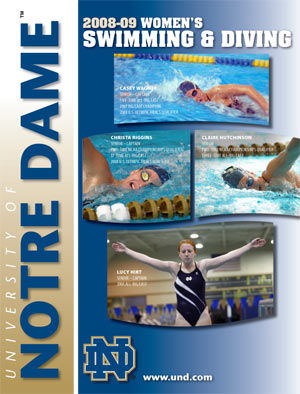 2008-09 Swimming & Diving Media Guide Cover