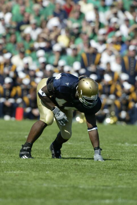 Senior defensive end Justin Tuck, a 2004 Hendricks Award candidate, is one of the vocal leaders on this year's Irish squad.