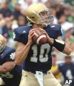Brady Quinn is poised for an outstanding sophomore season while leading the Irish offense.