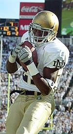 Maurice Stovall found himself on the cover of <i>Sports Illustrated</i> after this touchdown catch at Michigan State in 2002.
