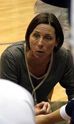 Notre Dame head coach Debbie Brown holds a 6-2 career record against Michigan.