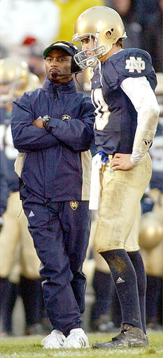The Irish offense hopes to get off on a good start in 2004 at BYU on Saturday, Sept. 4.