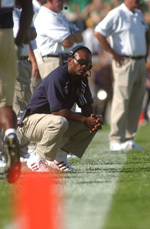Notre Dame head coach Tyrone Willingham appears on <i>Inside Notre Dame Football </i> each week.