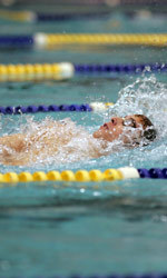 Doug Bauman was victorious in both the 200 individual medley relay and the 100 backstroke on Thursday evening.