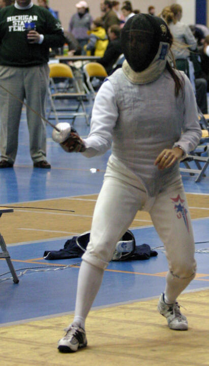 Senior Andrea Ament rallied from an 8-1 deficit in the gold-medal bout to win the MFC title in women's foil on Sunday in the Joyce Center.