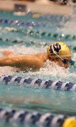 Junior Christel Bouvron will be the first non-American ever to compete in the NCAA Championships for Notre Dame.