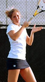 Senior captain Sarah Jane Connelly won in singles and doubles, providing the match-clinching victory at No. 5 singles.