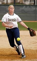Steffany Stenglein picked up both victories in Notre Dame's doubleheader sweep of Eastern Michigan on Tuesday, striking out 16 batters and giving up just five hits in 10 innings of action.