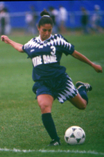 Rosella Guerrero earned All-America honors in 1994 and was a leading member of Notre Dame's 1995 national championship team.