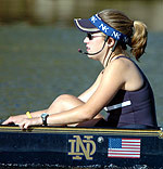 Maria Romano and the Irish will take part in four regattas during the 2005 fall season.