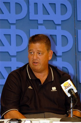 Charlie Weis talks with the media on Tuesday, Aug. 30, looking ahead to this weekend's matchup with Pittsburgh.
