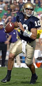 Brady Quinn, voted a team co-captain by his teammates this season, will lead the Irish into the 2005 season.