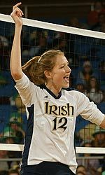 Lauren Brewster is the second Notre Dame volleyball player ever to be tabbed the national player of the week by any organization.