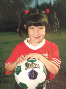 Sandra as a young player