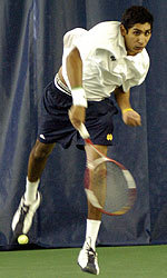 Sophomore Sheeva Parbhu and the Irish will take on the Trojans on Friday in the Eck Tennis Pavilion.