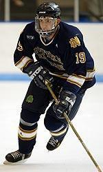 Wes O'Neill scored the opening goal of the game in Notre Dame's 4-0 exhibition win over the University of Waterloo.