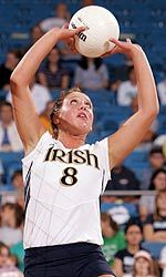 Sophomore Ashley Tarutis led the Irish offense to .315+ hitting in all three games vs. UConn.
