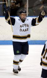 Tim Wallace scored twice in Notre Dame's 5-3 loss to Princeton.  It was the second two-goal game of his career.