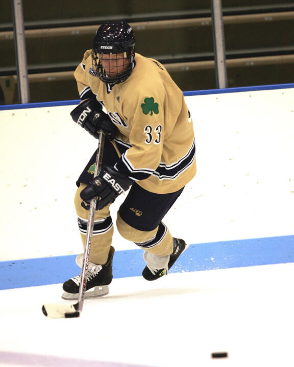 Freshman Garrett Regan scored his first career goal, the game winner, in Notre Dame's 2-0 win over Princeton last weekend.