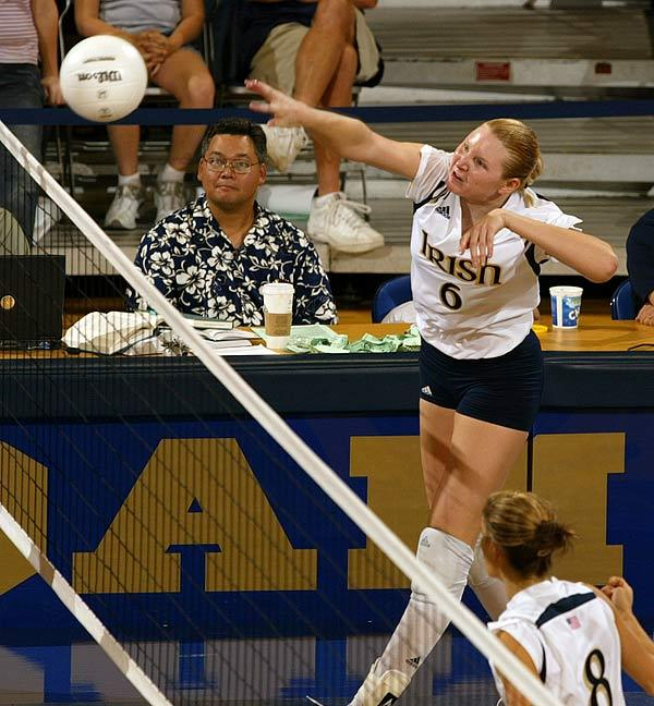 Senior OH Lauren Kelbley posted 18 kills in her final collegiate match.