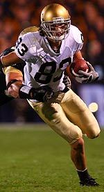 Jeff Samardzija ended the 2005 regular season with 71 catches for 1,190 yards and 15 touchdowns.