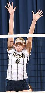 Senior OH Lauren Kelbley is the first Notre Dame player ever to be an AVCA all-region/district selection in each of her four seasons.