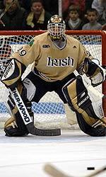 Former Irish goaltender Morgan Cey '05 has been selected to play for Team Canada in the 2005 Spengler Cup Tournament in Davos, Switzerland from Dec. 26-31.