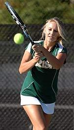 Freshman Kelcy Tefft holds a 34-5 combined (singles and doubles) record this season.