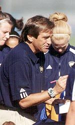 Notre Dame women's soccer head coach Randy Waldrum (pictured) and men's soccer head coach Bobby Clark will be two of the clinicians at the 2006 National Soccer Coaching Seminar, which is being held at Notre Dame.