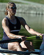 "Captain Andrea Doud wll be rowing in the second varsity ""A"" boat on Saturday afternoon."