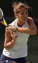 Senior Lauren Connelly is undefeated this spring, having gone 11-0 in doubles and 2-0 in singles.