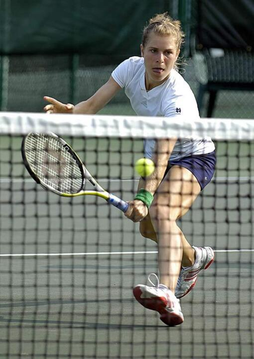 Senior Kristina Stastny provided the 16th clinching victory of her career. (photo by Greg Owen)