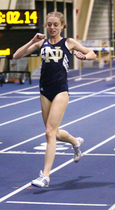 Senior Stephanie Madia closed out her exceptional college career with a second-team Academic All-America&amp;reg; citation on Thursday, becoming the third Irish women's track &amp; field athlete ever to earn All-America and Academic All-America&amp;reg; honors in the same year. <i>(photo by Marcus Snowden)</i>