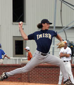 Jeff Samardzija went undrafted out of high school but developed into a top draft prospect at Notre Dame (photo by Pete LaFleur).