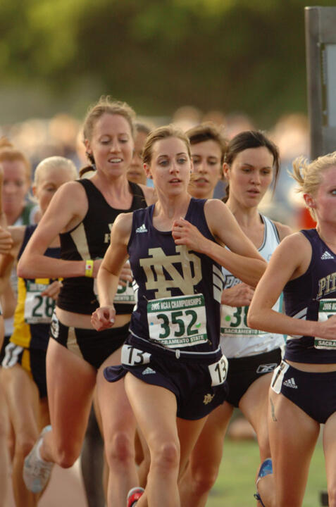 Senior Molly Huddle took runner-up honors in the 5,000-meter final at the NCAA Outdoor Track &amp; Field Championships on Friday night in Sacramento, Calif. Huddle also earned her ninth career combined All-America citation, tying former Irish men's distance runner Ryan Shay (1999-2002) for the most All-America awards in school history. <i>(photo by Bob Solorio)</i>