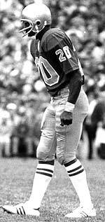 A member of Notre Dame's national championship teams in 1973 and 1977, Luther Bradley is still the Irish all-time leader in interceptions with 17 during his career.