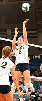 Junior setter Ashley Tarutis and the Notre Dame volleyball team are ranked #21 in the AVCA to begin the season.