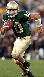 Senior quarterback Brady Quinn will begin his third season full season as Notre Dame's starting quarterback on Saturday against Georgia Tech.