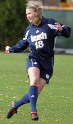 Senior defender Christie Shaner - who was tabbed the BIG EAST's 2006 preseason defensive player of the year - will held lead Notre Dame into a preseason clash with Virginia for the second straight season.