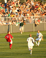 On Monday night, 2,534 fans turned out to watch Notre Dame defeat Saint Francis (Pa.) 2-0 in exhibition action, which benefitted Grassroot Soccer.