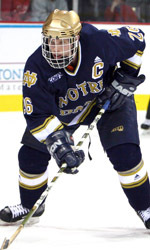 Irish captain T.J. Jindra and his teammates will appear on TV 10 times during the 2006-07 season.