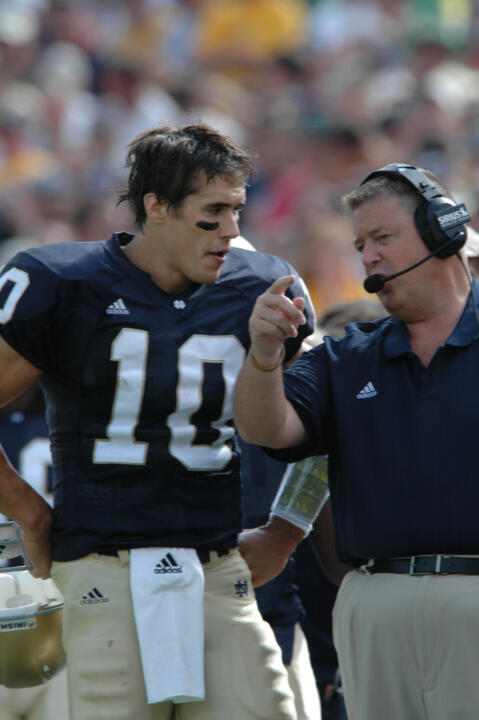 Notre Dame quarterback Brady Quinn and head coach Charlie Weis will be back on the sidelines in Notre Dame Stadium for the first time in 2006 this Saturday, when the Irish face #19/19 Penn State.