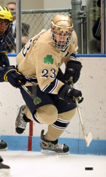 Junior center Mark Van Guilder got his season off to a fast start with two goals and an assist in Notre Dame's season-opening 6-1 win against Minnesota State.
