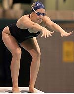Ellen Johnson and the Notre Dame Swimming and Diving Team Set Four New Events Records in Winning the Dennis Stark Relay