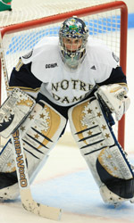 Goaltender David Brown will look to stand tall for the Irish in the second half of the season.  The Hobey Baker candidate is 13-3-1 with a 1.64 goals against average after the first 18 games of the season.